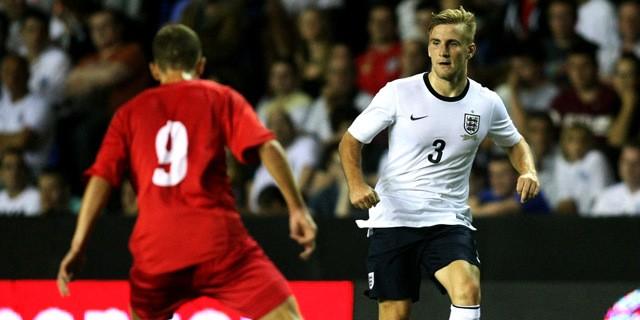 05 Sep 2013, Reading, Berkshire, England, UK --- Engalnd U21s Luke Shaw