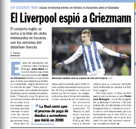 Antoine Griezmann to Liverpool?