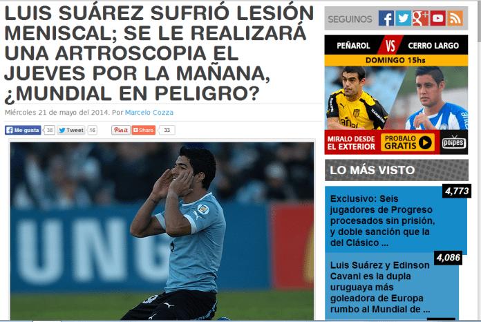 Suarez injured