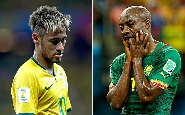 It's not been easy for either Brazil or Cameroon in the 2014 World Cup
