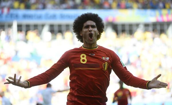 Fellaini scored for Belgium during the international break