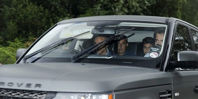 Joao Filipe arrives at United's Carrington training complex