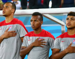 John Brooks (Right), Julian Green (Center) and DeAndre Yedlin (Left) are few of the young players that will be leading the charge for the Yanks in the 2018 World Cup in Russia. Photo provided by USA Today.