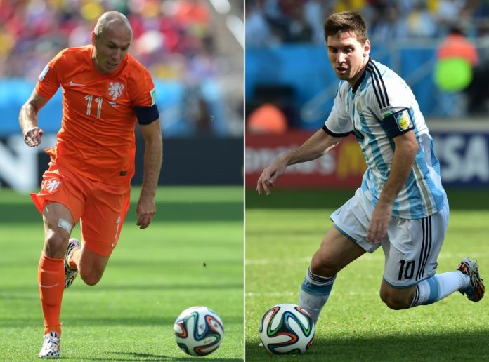 Netherlands v Argentina in the World Cup 2014 semifinal - it could come down to Robben v Messi.