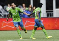 Seattle Sounders FC future USL Pro club could potentially discover them their future Clint Dempsey (Left) and Obafemi Martins (Right), with the young players in the Seattle region getting some playing time to develop. Photo provided by Soccerly.com.