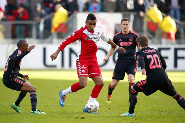 Free agent American strikers Juan Agudelo could be heading to 2.Bundesliga side, TSV 1860 München, if rumors are true. Photo provided by SoccerByIves.net.