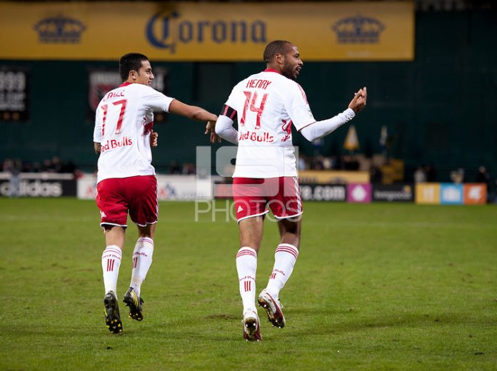 The New York Red Bulls could potentially discover their new Thierry Henry (Right) and Tim Cahill (Left) through a USL Pro club. Photo provided by ISIPhoto.com