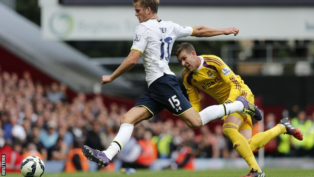 Eric Dier (Tottenham Hotspur): The 19 year-old Englishman had a dream debut at Upton Park, as he capped off an impressive performance with a stoppage-time winner to win all three points for Spurs. The future looks bright for the defender, who was signed from Sporting Lisbon earlier in the summer.