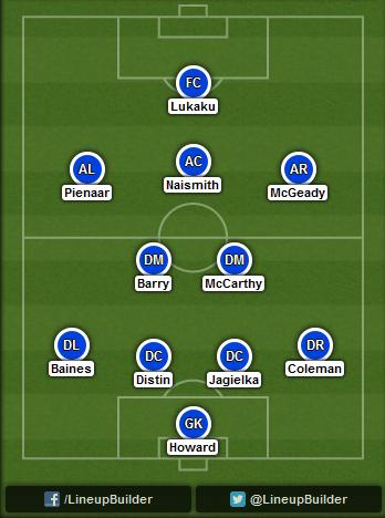 Predicted Everton lineup vs Arsenal on 23/08/2014