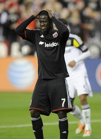 Eddie Johnson, will not be playing in the next two matches for DC United. After being hit with a two game suspension by MLS. Photo provided by nbcsports.com.