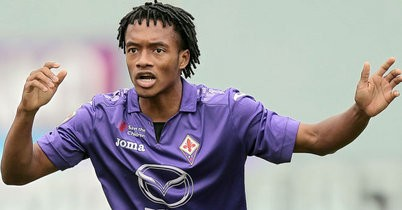 Cuadrado playing for Fiorentina