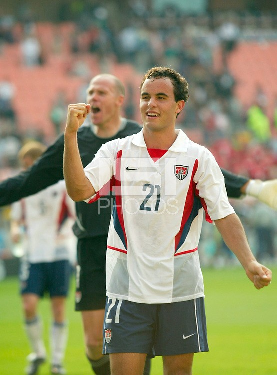 Landon Donovan, was the man who sent the United States into the quarterfinals in the 2002 World Cup by scoring the wining goal against Mexico in the round of 16. Now he will be leaving the game of soccer at the end of the Major League Soccer season. Photo provided by ISI Photos.