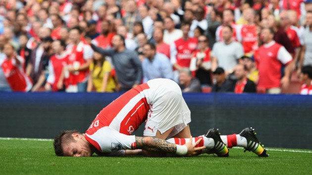 Mathieu Debuchy will be sidelined for three months.