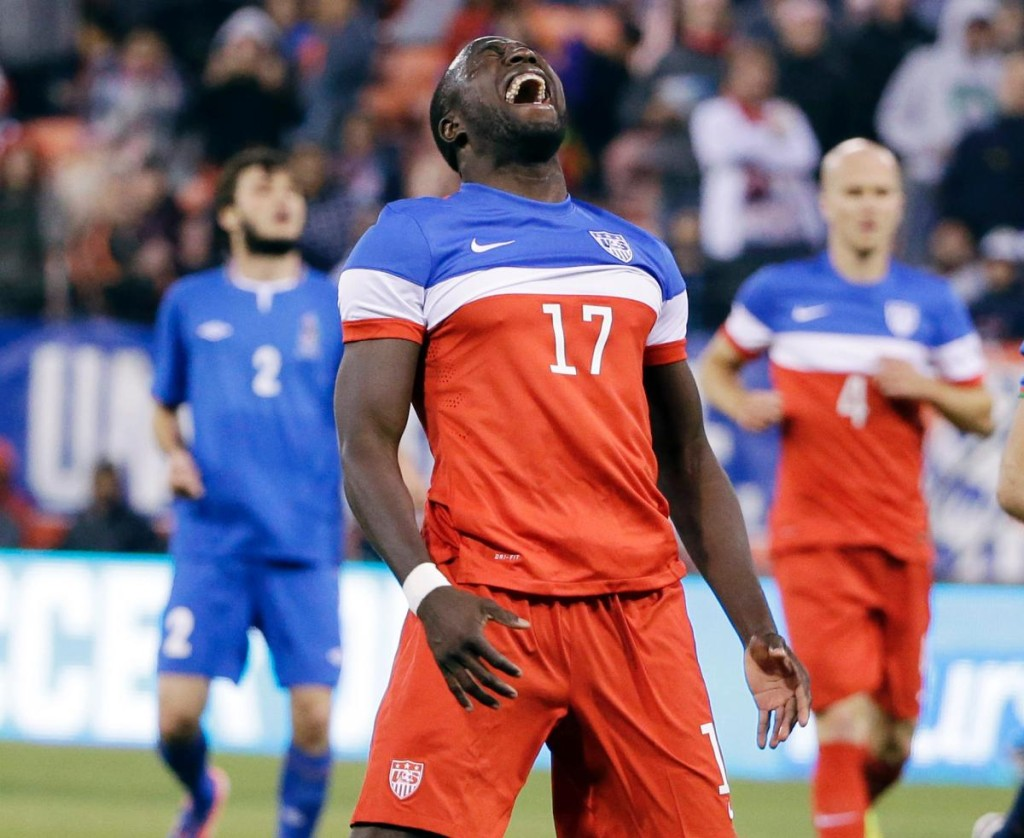 Jozy Altidore to captain the USMNT against the Czech Republic on Wed. at Prague. Photo provided by nydailynews.com.