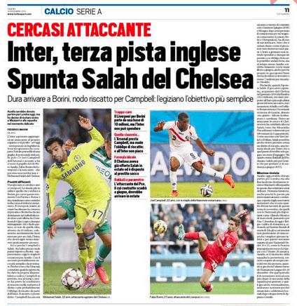 Chelsea Transfer salah inter