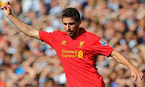 Fabio Borini of Liverpool