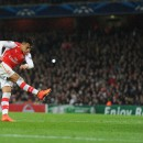 Alexis flying high for Arsenal.  Pic by: @Stuart_PhotoAFC