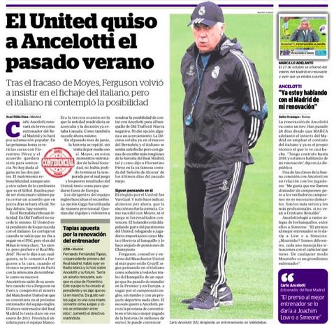 Carlo Ancelotti Manchester United