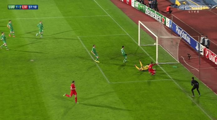 Ludogorets vs Liverpool score