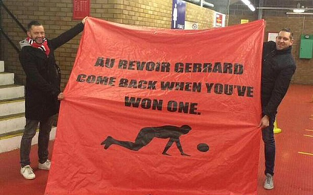 Manchester United banner Liverpool