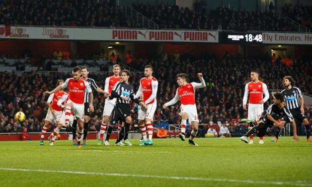 Barclays Premier League 2014/15 Arsenal v Newcastle United Emirates Stadium, Hornsey Rd, London, United Kingdom - 13 Dec 2014