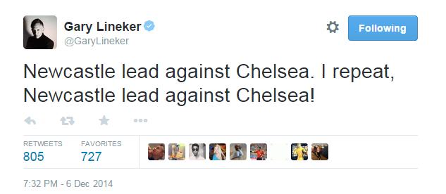 Newcastle vs Chelsea score