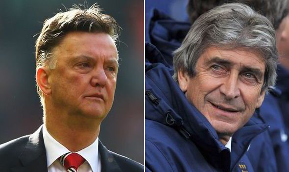 Louis van Gaal and Manuel Pellegrini