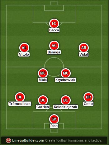 Predicted Sevilla lineup vs Dnipro on 27/05/2015