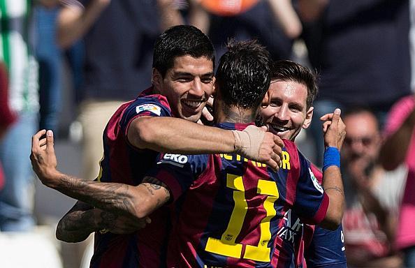 Luis Suarez + Neymar + Lionel Messi