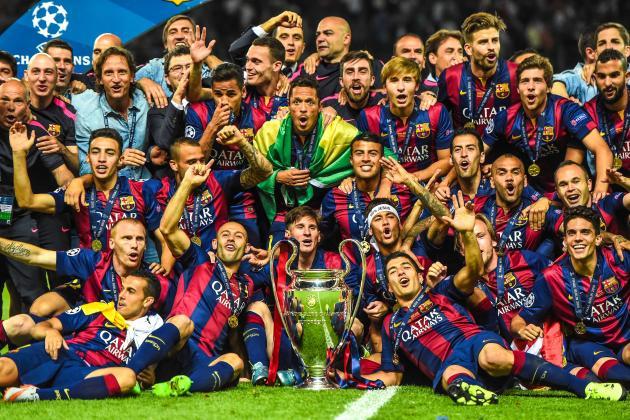 Barca 2014/15 CL winners