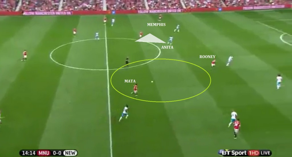 Mata afforded central space.