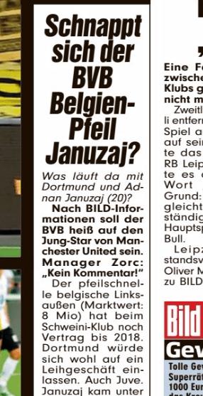 Manchester United Transfer: Bild claim that Dortmund want Januzaj on loan