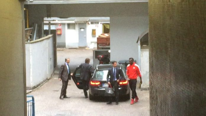 Gianluca Di Marzio: Mario Balotelli arrives for his AC Milan medical