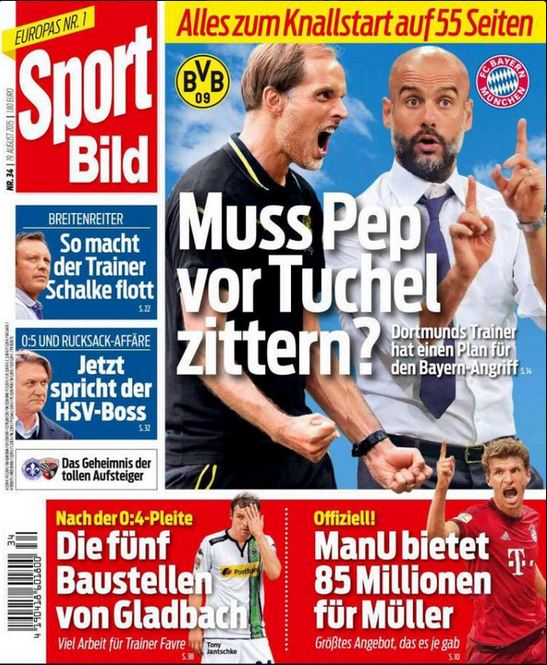 SportBild: Manchester United submit £60m bid for Thomas Muller