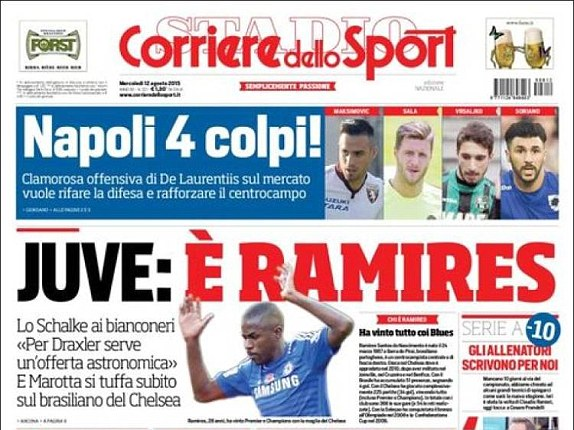 Chelsea Transfer: Ramires closing in on a move to Juventus
