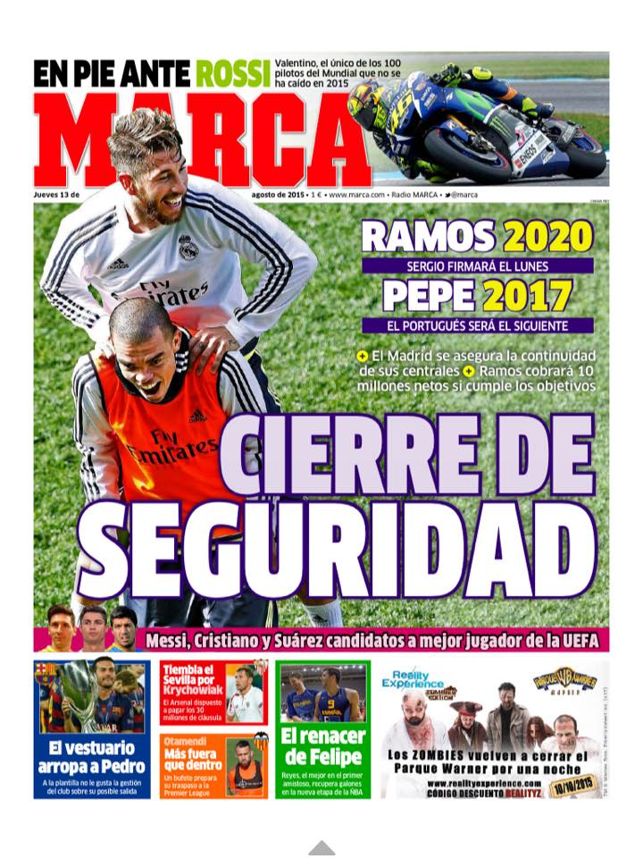Sergio Ramos Transfer: Manchester United target extends his contract