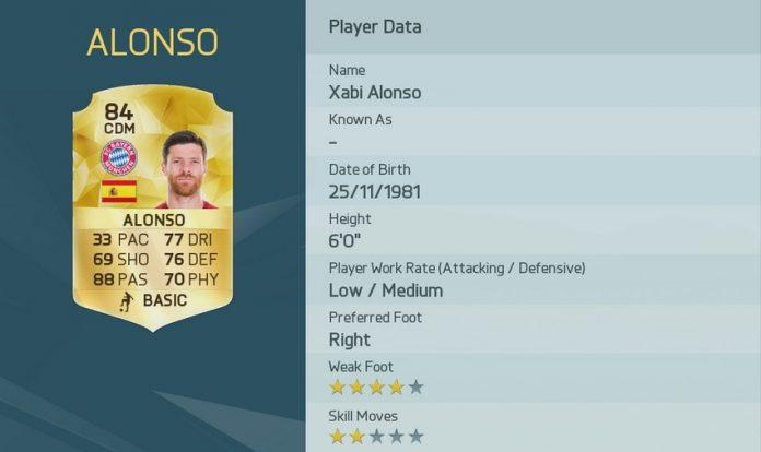 FIFA 16: Xabi Alonso