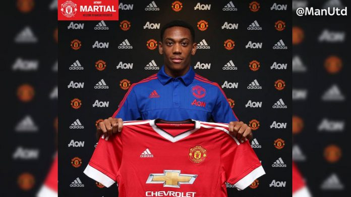 Anthony Martial signed for Manchester United this summer