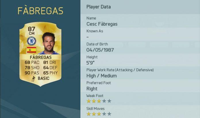 FIFA 16: Cesc Fabregas