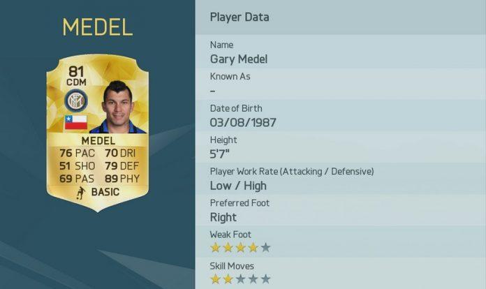 FIFA 16: Gary medel