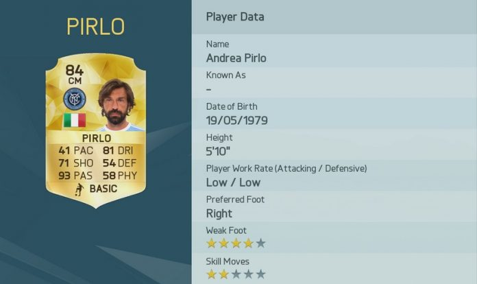 FIFA 16: Andrea Pirlo
