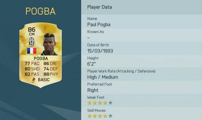 FIFA 16: Paul Pogba