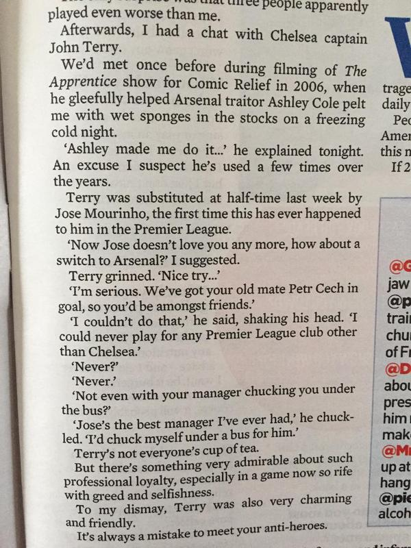 Excerpt from The Guardian: Conversation between Piers Morgan and John Terry