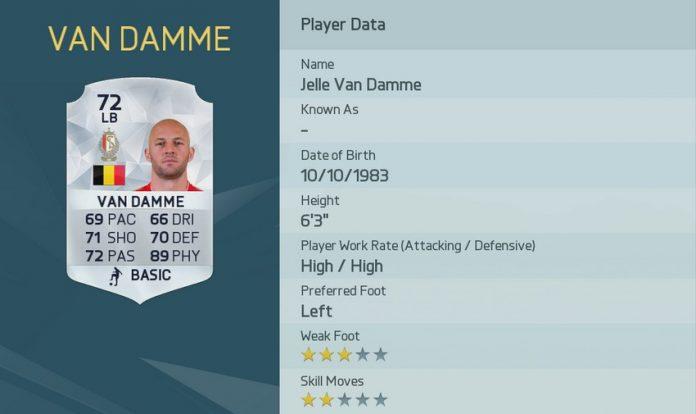 FIFA 16: Jelle Van Damme