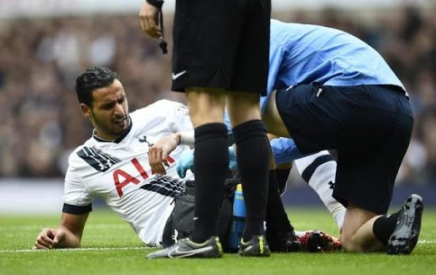 Nacer Chadli injury