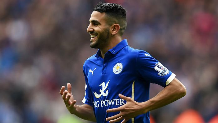 Mahrez scored his third goal in three UCL games for Leicester.