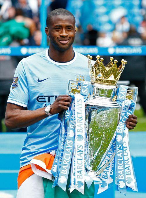 Yaya Toure Premier League trophy