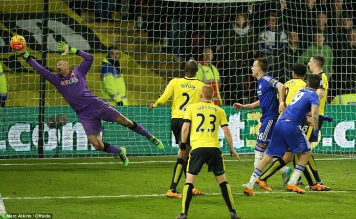 Heurelho Gomes save vs Chelsea