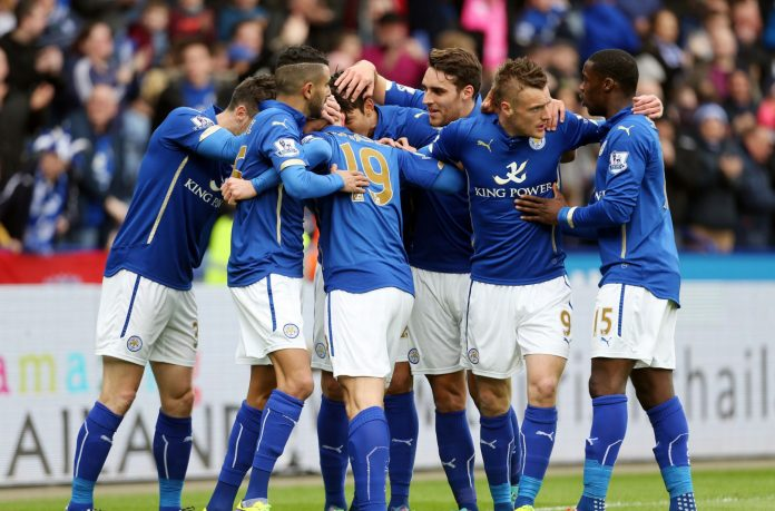Leicester City Team Celebrating