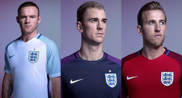 England Euro 2016 Kits